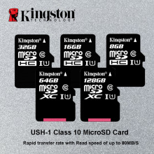 Kingston Micro SD Card 64GB 128GB MicroSDXC Memory Card Class 10 Mini SD Card C4 8GB MicroSDHC TF Card 16GB 32GB for Smartphone