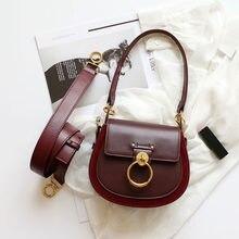 9a4f8892f5a5 Женская сумка с лямкой через плечо пояса из натуральной кожи + замша сумка  Элитный бренд дизайн