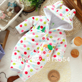 Nueva 2016 otoño invierno mamelucos recién nacido ropa de bebé mono de los niños del bebé de algodón mameluco del bebé y niño Polka Dot trajes