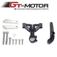 For Kawasaki ZZR1400 ZX 14R ZX14R 06 15 Motorcycles Adjustable Steering Stabilize Damper Bracket Mount Support