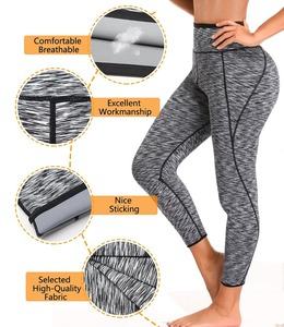 Image 4 - NINGMI ארוך סאונה מכנסיים Neoprene צועד בקרת תחתוני כושר Bodyshape Shaper Slim סופר למתוח Capris מכנסיים מכנסיים נשים