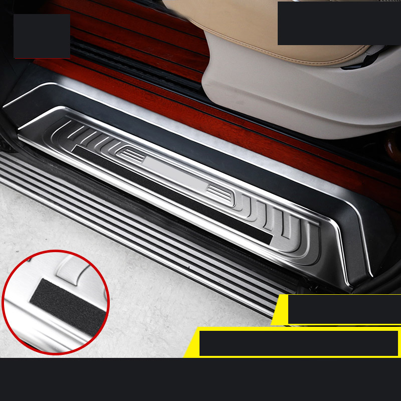 lsrtw2017 stainless steel car door sill for mercedes benz vito 2014 2015 2016 2017 2018 2019 w447 v class v260