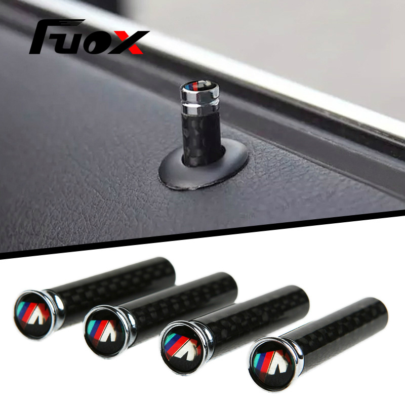 4PCS/Set M Tech Stainless Steel Car Lock Modified Door Pin For M BMW E36 E46 E63 E64 E81 E82 E46 E52 E53 E60 E90 Car stickers