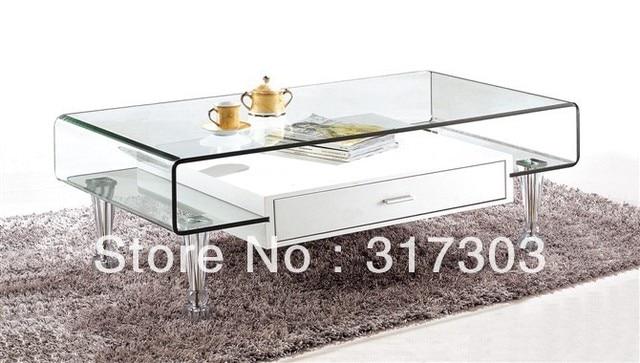 US $80.0 |Piede in acciaio inox, tè di vetro tavoli con cassetto,  sidetable, tavolo, mobili soggiorno, tavolino, vetro di colore pittura 219  in Piede ...