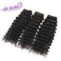 Ali Cabelo Graça Top Grau 3 pçs/lote peruano virgem cabelo profunda extension12 cabelo para 28 1B preto natural cabelo Humano onda tecer