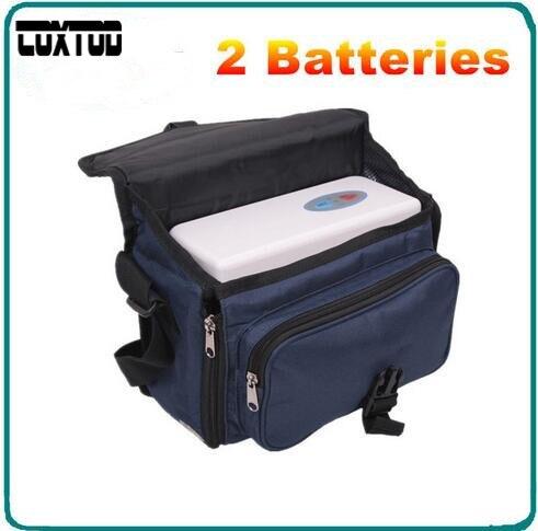 COXTOD Due batterie Genuino Concentratore di Ossigeno Portatile per la casa di viaggio con auto ricarica