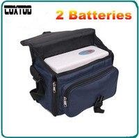 Coxtod двух батарей натуральная Портативный концентратор кислорода Главная Путешествия с Автомобильное зарядное устройство