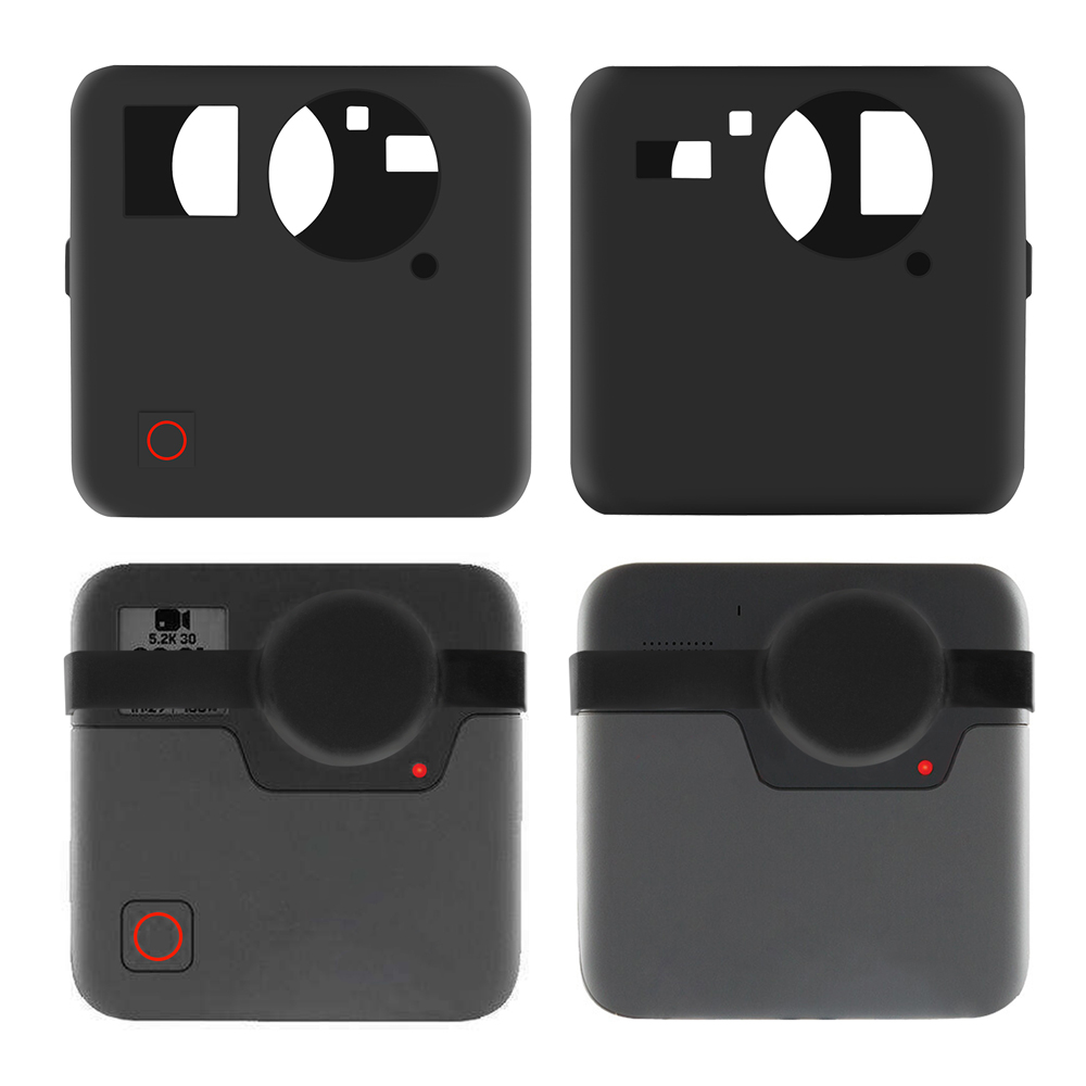 Soft Silicone Protective Cover Case For GoPro Fusion Action Camera Housing Shockproof  Case For Go Pro Sports Camera Accessories
