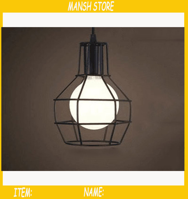 lack Retro Edison Vintage Edison Cage Lights ,Wire Lamp Cage,DIY ...