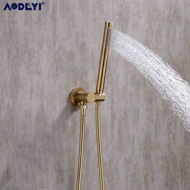 Mosiądz okrągły prysznic ręczny głowy czarny matowy wykończenie prysznic złącze regulowany uchwyt ścienny Handheld oszczędzania wody wanna prysznic