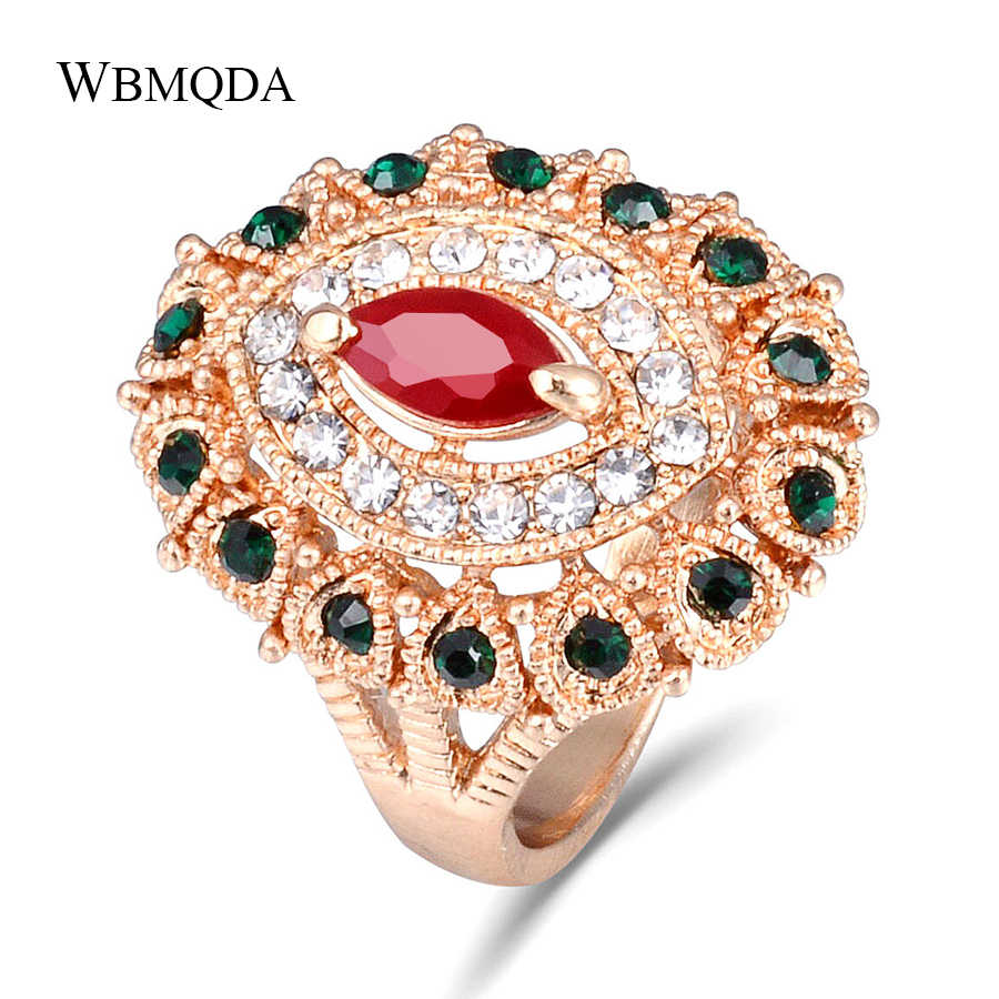 High Quality Crystal Ring Gold And Silver Color Women Rings Indian Jewelry Charms Party Holiday Gift