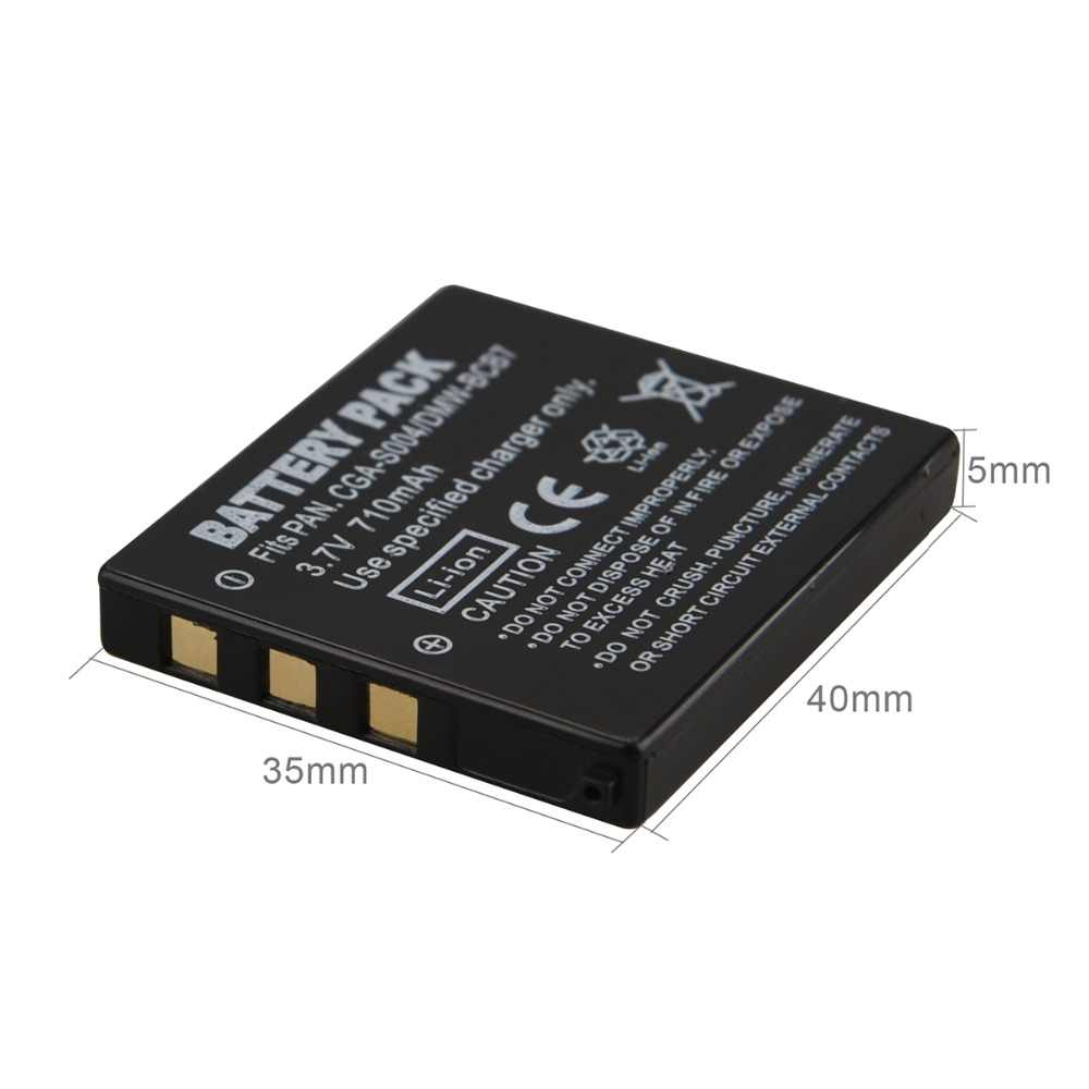 710 mAh CGA-S004 S004A S004E DMW-BCB7 CGA S004 Batterie pour Lumix DMC-FX2 Lumix DMC-FX7 DMC-FX2GN Lumix DMC-FX7S DMC-FX7W DMC-FX2B