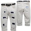 3901 paint spot Beige baby boy pants  boys casual pants baby trousers kids baby hole patches trousers spring autumn  paint spot