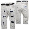 3901 pintura ponto bege baby boy calças meninos calça casual calças do bebê dos miúdos manchas buraco calças do bebê primavera outono pintura local