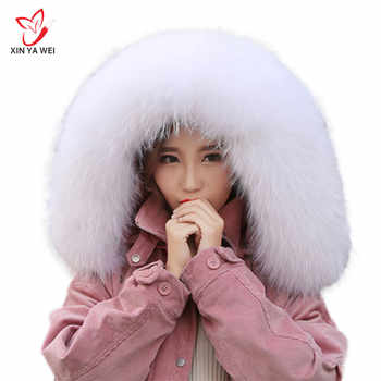 Women Winter Coat Female Warm Shawl Thick Raccoon Fur Collar Scarves Neck Warmer 100% Natural Fur Collar Real Fur Scarf - DISCOUNT ITEM  49% OFF All Category