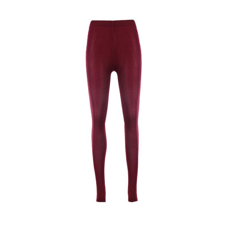 67546da5bdb Dropwow Women Winter Warm Leggings Elastic High Waist Slim Plus Size ...