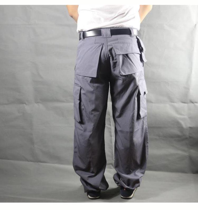 Working pants men multi pockets work cargo pants large size loose style men\'s labor trousers wear-resistance welding repairman (10)