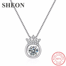 цена 925 sterling silver heartbeat crown pendant necklace luxury female clavicle chain fashion Engagement jewelry dropshipping онлайн в 2017 году