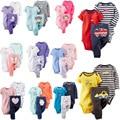Navio livre 100% Algodão 2017 bebes conjunto de 3-24 M, roupas de bebê menino, menina roupa do bebê, recém-nascidos 3 peças ropa bebe menino