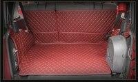 Hohe qualität! Spezielle auto stamm matten für Jeep Wrangler JK 2017-2007 durable wasserdichte cargo-liner boot teppiche  Freies verschiffen