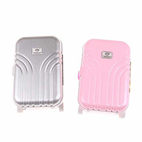 2020New Reise Set Koffer Für 18 zoll Puppe rosa/silber Hohe Qualität