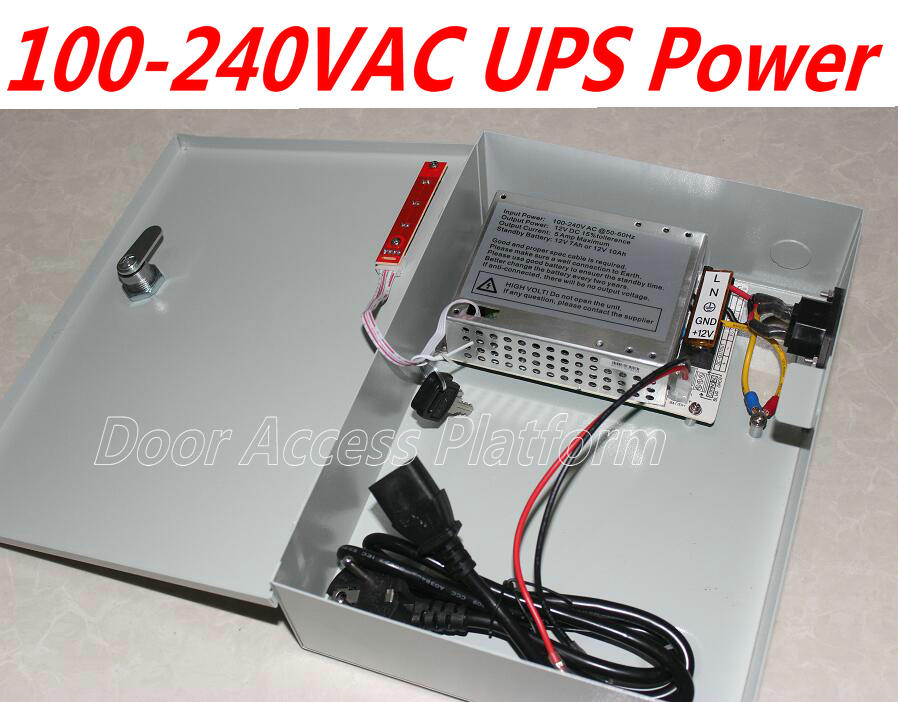 100-240v Ac @50-60hz Ups Power Supply Box+power Lines For Web Access Controller System,tcp Controller Panel Dc12v,5amp Current Access Control Accessories