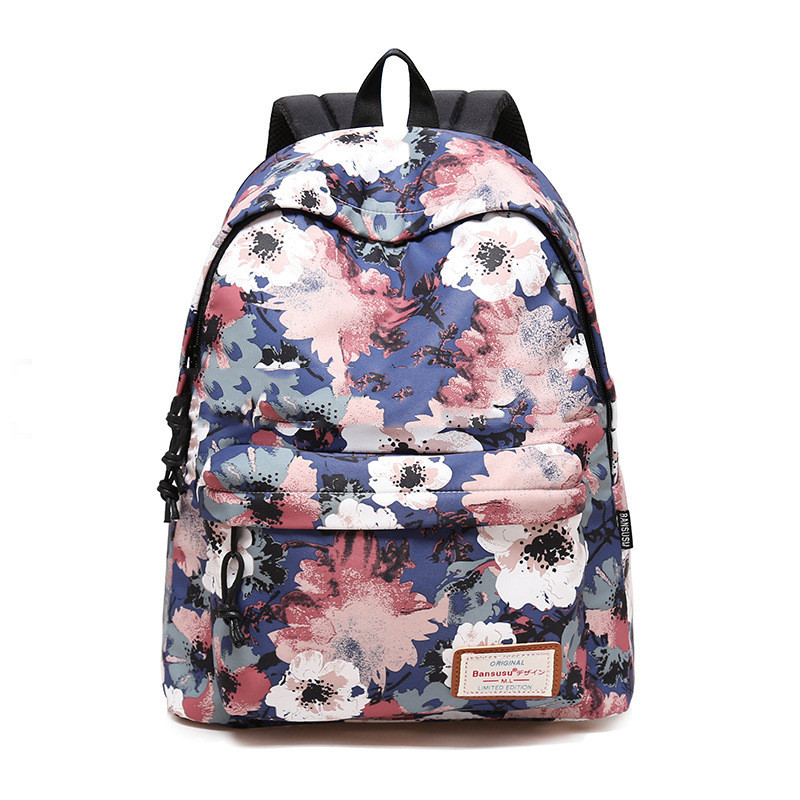 Brand 2018 Daily Women Backpack For School Teenager Girls Flowers Printed Travel Backpacks Casual Floral Backpack School Bag