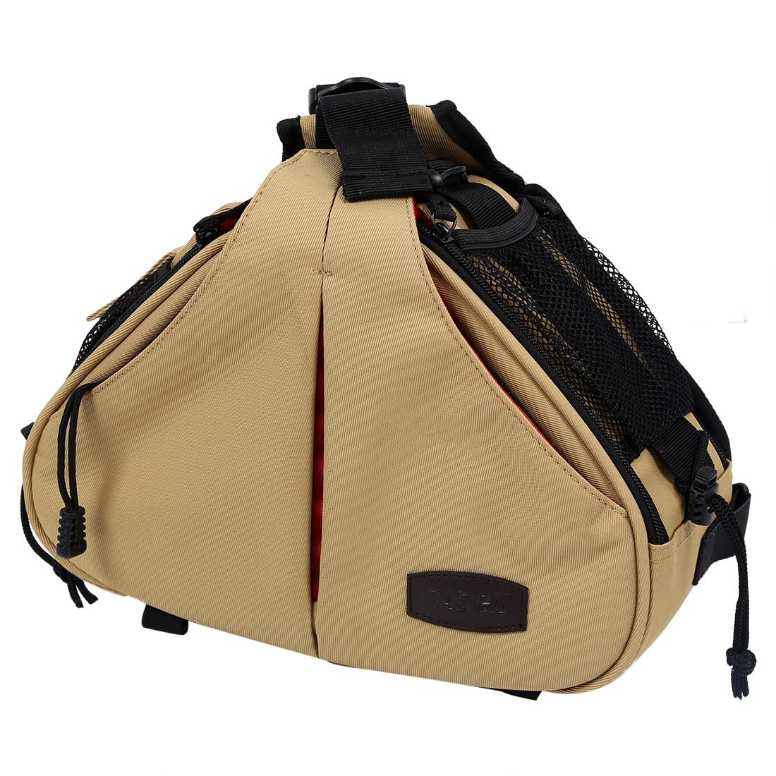 MAHA Caden K1 Waterproof Fashion Casual DSLR Camera Bag Case Messenger Shoulder Bag for Canon Nikon Sony (Khaki/Black) цена 2017