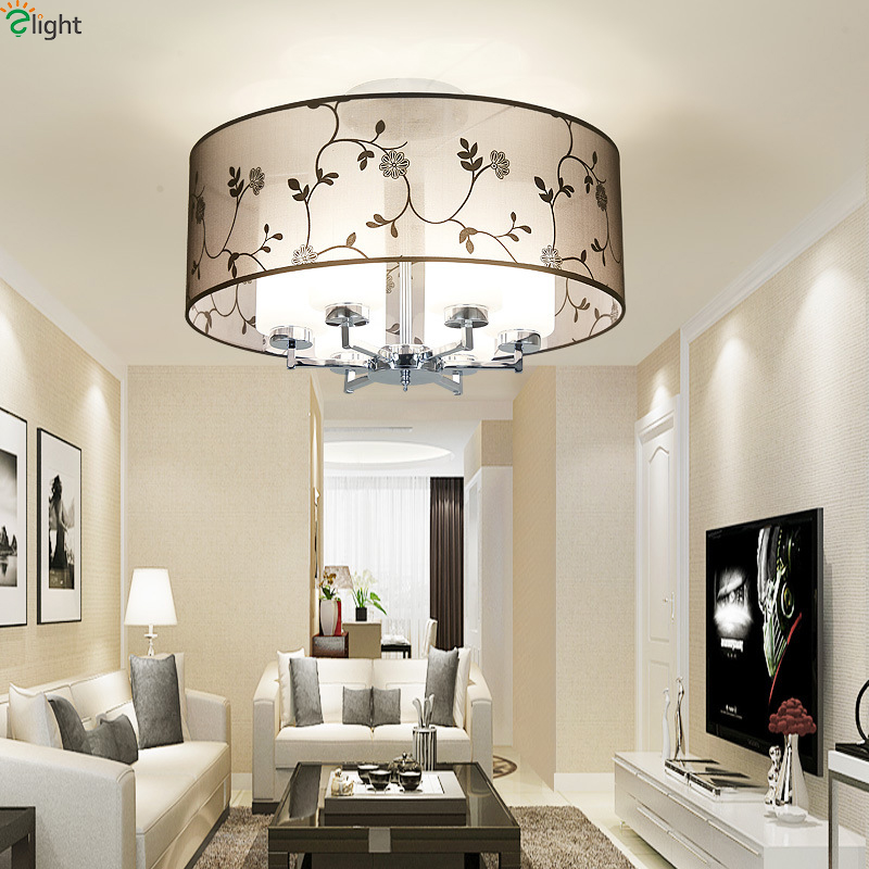 Glass Chandeliers For Dining Room: Modern Chrome Metal Led Ceiling Chandelier Light Glass