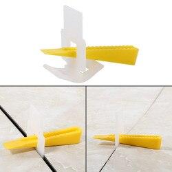 500 Clips + 200 Keile Boden Wand Fliesen Leveler Abstandshalter Flache Nivellierung System-Tools