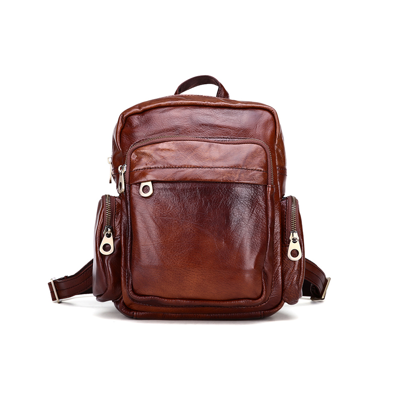 Women Genuine Leather Backpacks Brand Ladies Fashion Backpacks For Teenagers Girls School Bags Real Leather Travel