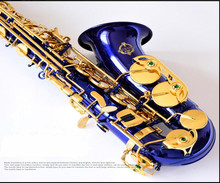 E-flat alto saxophone blue high quality musical instruments drop E (or F), tune midrange sax music