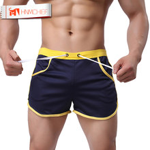 HNMCHIEF Quick Dry Clothing Men's Casual Short Household Man Shorts G Pocket Straps Inside Trunks Beach Shorts Breathable(China)