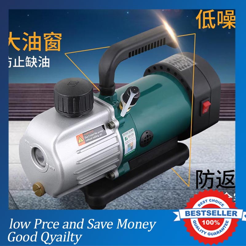 PVC-2M Single Stage Rotary Vane Vacuum Pump Air Conditioning Air Suction Pump tw 4a single stage 4 l rotary vane type portable vacuum pump with a single stage
