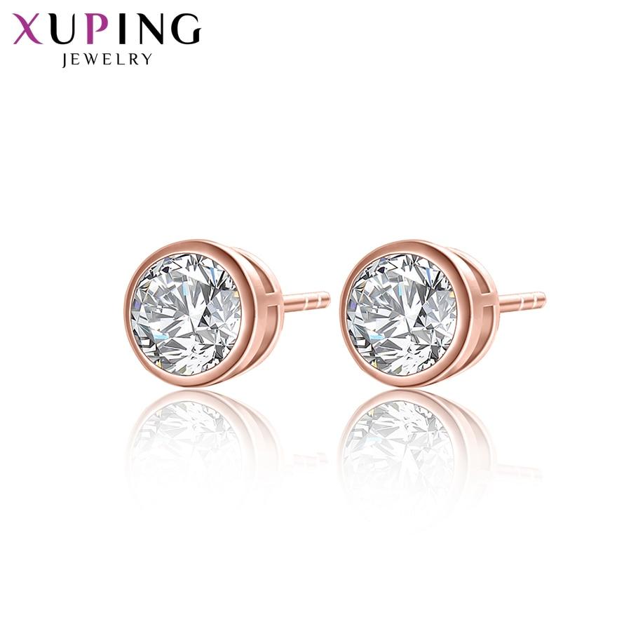 """""""Xuping"""" elegantiški auskarai Naujos dizaino aukso spalvos padengti sintetiniai kubiniai cirkonio papuošalai vestuvių auskarai Y8-2012"""