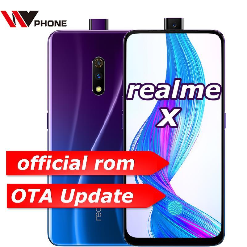 Realme x 4G LTE 4 GB 64 GB Snapdragon 710 Octa Core 6.53 pouces écran 3765 mAh double caméra arrière téléphone portable