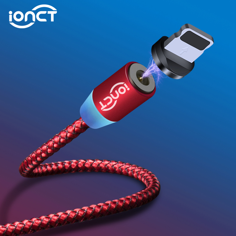 Ionct Magnetic-Cable Microusb-Cord iPhone-Type Fast-Charging Android Nylon