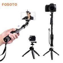 fosoto FT-777+228 Selfie Stick VS YT-1288  bluetooth 50″ Handheld monopod Tripod Base Stand For Gopro Dslr Camera IPhone7 8