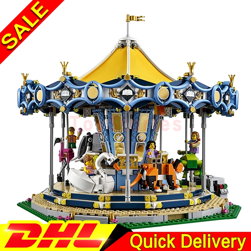 Lepin 15036 2705Pcs Genuine Street Series New Carousel Set Children Building Blocks Bricks Toys Model legoings Toys Gifts 10257 new lepin 23015 science and technology education toys 485pcs building blocks set classic pegasus toys children gifts