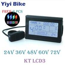Бесплатная доставка 24 В 36 В 48 В 60 В 72 В KT LCD3 Дисплей Интеллектуальная для электрический велосипед двигатель постоянного тока контроллер Водонепроницаемый разъем