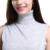 Sparsil mezcla suéter de cachemira de cuello alto sin mangas del chaleco de las mujeres frente de split short mini vestido moda jerseys prendas de punto suave