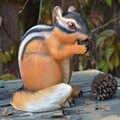 Art créatif et artisanat jardin jardinage simulation résine animal écureuil ornements mental bac à sable sable avec accessoires