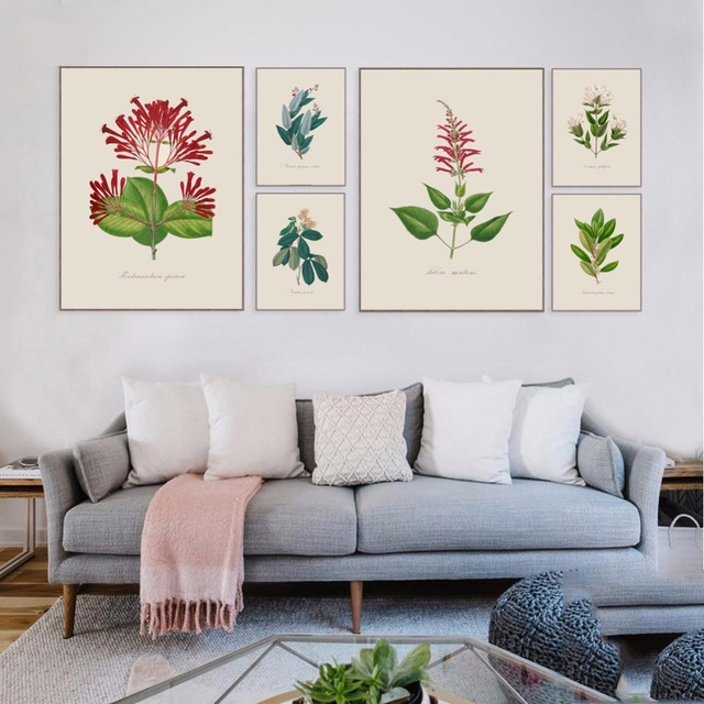 Tropical Plant Leaves Canvas Art Print Painting HD Poster Modern Minimalist Wall Pictures For