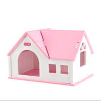 Cute luxury Small Animal pet Hamster house Bed Summer wood hedgehog chinchilla guinea pig House cage Nest Hamster accessory