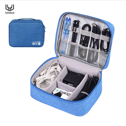 luluhut travel digital accessories storage bag portable USB cable case for headphones charger gadget organizer power bank holder