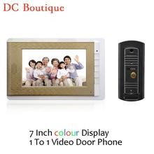 (1 Unidades) puerta Sistema de Intercomunicación Talkback HD Cámara Versión de La Noche de Uno a Un Monitor de Video Teléfono de La Puerta de Control de Acceso de 7 pulgadas