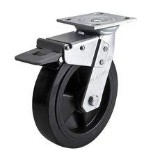 1 шт. жнвлп Heavy Duty 8 дюймов/кпромышленной тележки 420 кг игрушка «Акула» из вспененного полиуретана колеса ролики пластина подшипника тормозной замок промышленный для тележки