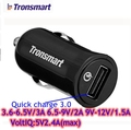 Tronsmart CC1T USB Car Charger Quiak charge 3.0 5V 2.4A 9V 2A 18W Voltiq for Xiaomi Mi5 LG G5 Nexus 5X 6P Huawei Mate 9 Charger