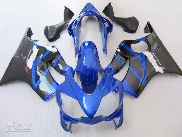 Blue Black for HONDA CBR600 F4i 04-07 CBR 600F4i 600 F4i 04 05 06 07 2004 2005 2006 2007 fairing kit 04