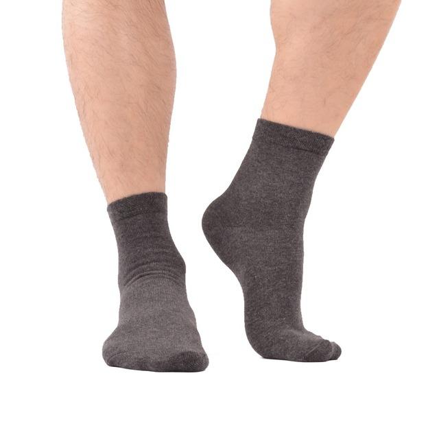 Men's Breathable Solid Formal Socks, 5 Pair